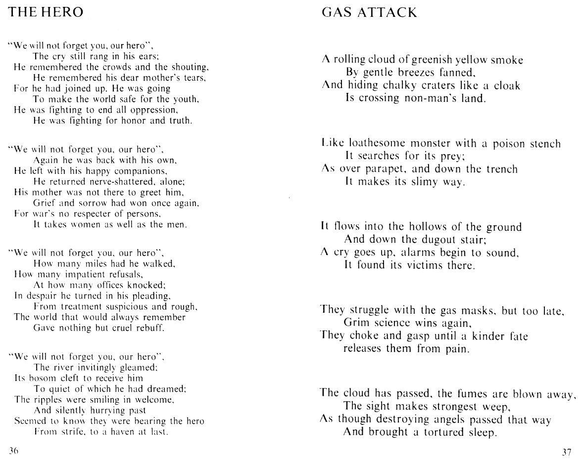 Carry On - Reflections from a War: The Hero. Gas Attack