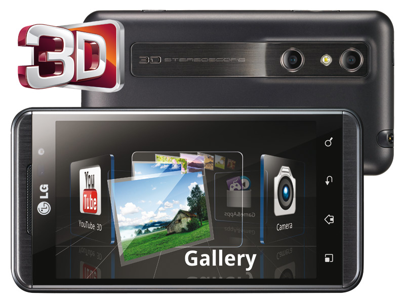 Android powered lg optimus 3d smartphone