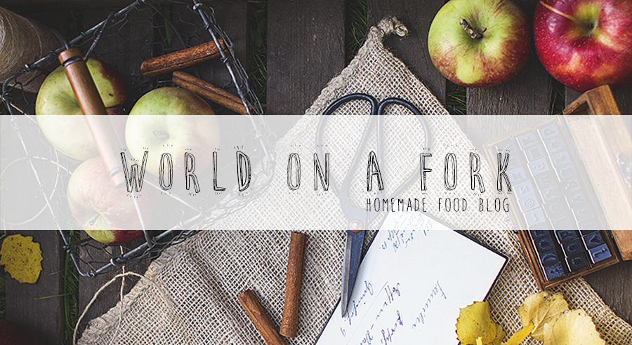 world on a fork.