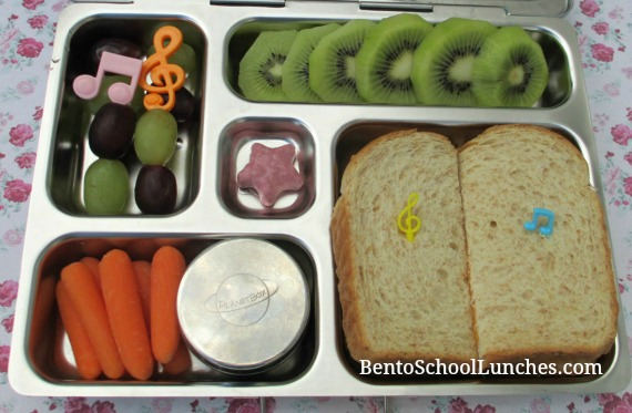 Fruit kebabs, bento school lunches