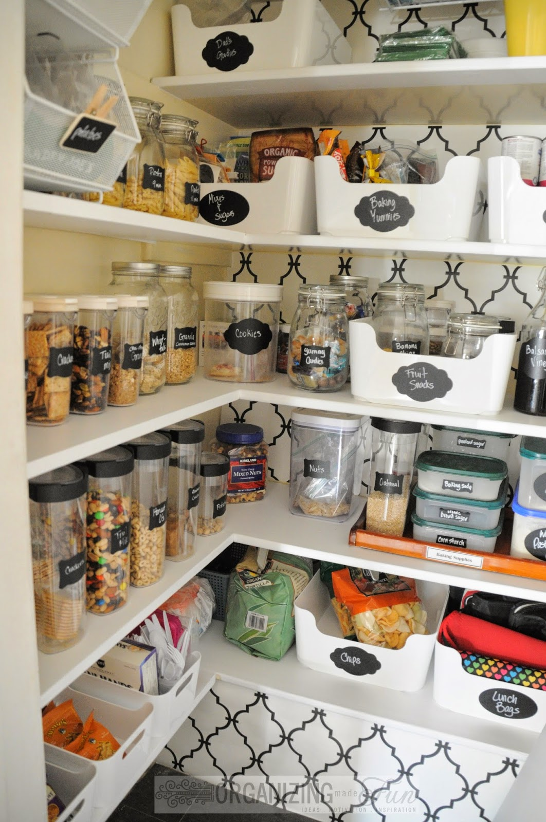 Inside The Small Walk In Kitchen Pantry :: OrganizingMadeFun.com