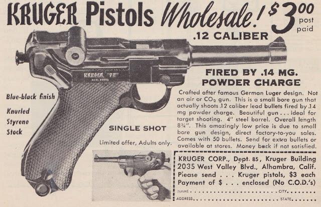 Kruger Toy Pistol Newspaper Ad