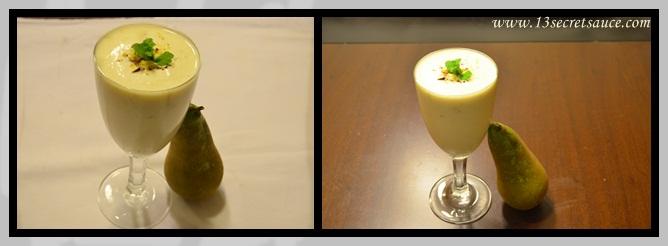 13 Secret Sauce: Pistachio Pear Smoothie