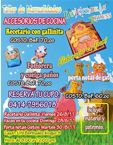 ACCESORIOS DE COCINA. TALLER DE MANUALIDADES