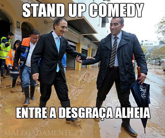 Imagem de Calvão da Silva em Albufeira no meio dos estragos - Stand Up Comedy – Entre a desgraça alheia