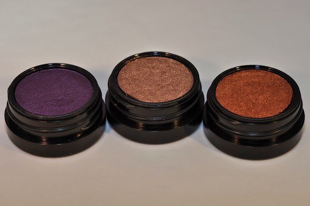 MAC Electric Cool Eye Shadows in Highly Charged, Superwatt, Coil