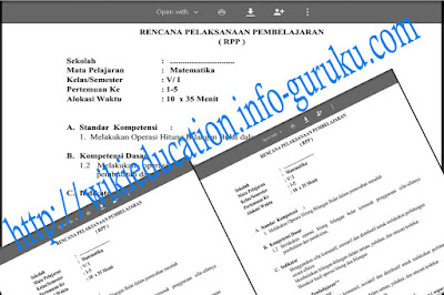 Update RPP KTSP untuk Sekolah Dasar ( SD ) atau Madrasah Ibtidaiyah ( MI ) untuk Kelas I, II, III, IV, V, dan VI