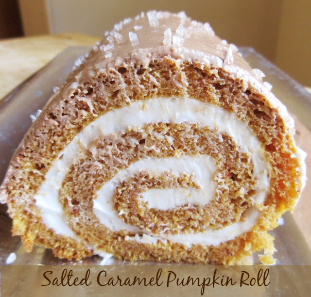 salted caramel pumpkin roll