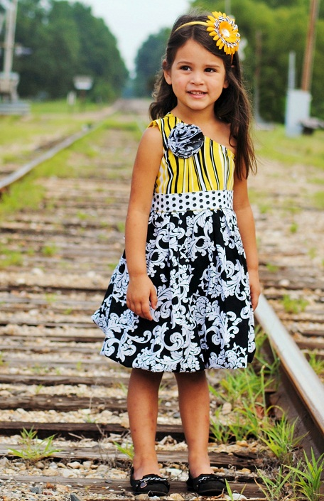 Toddler Dress Sewing on 2 Step Dance Pattern