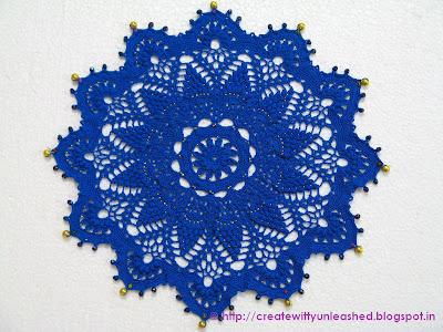 Classic crochet beaded doily