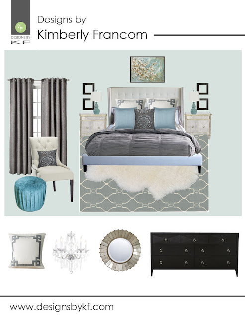 Designs By Kimberly Francom And Associates Master Bedroom Design Board