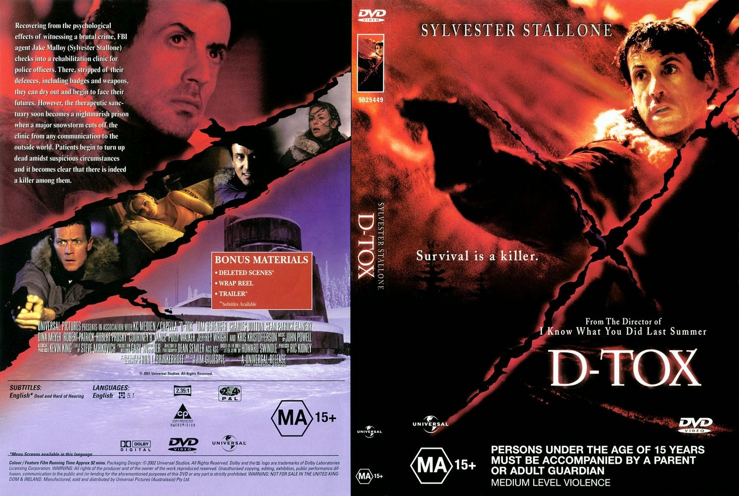 D-Tox (Also known as Eye See You) - Released in 2002 - Starring Sylvester Stallone, Tom Berenger, Charles S. Dutton, Robert Patrick