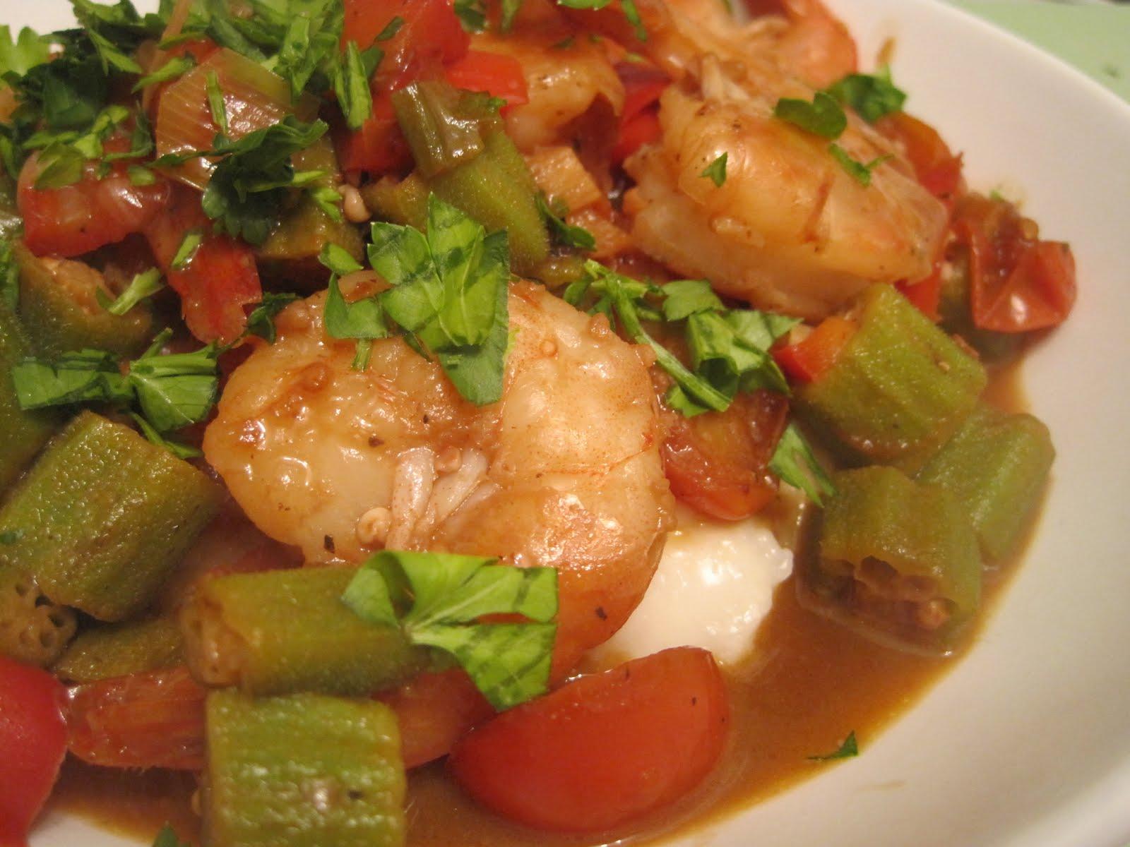 shrimp and grits with okra serves 2 ingredients 12 shrimp