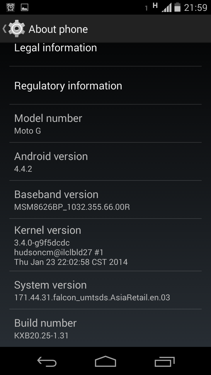 how to tell what version of android i have