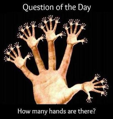 كم إصبع وكم  يد تشاهد في هذه الصورة !