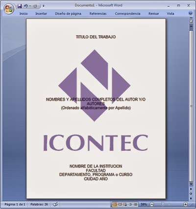 Donde puedo saber cuales son las normas ICONTEC 2013 para escribir mis trabajos académicos