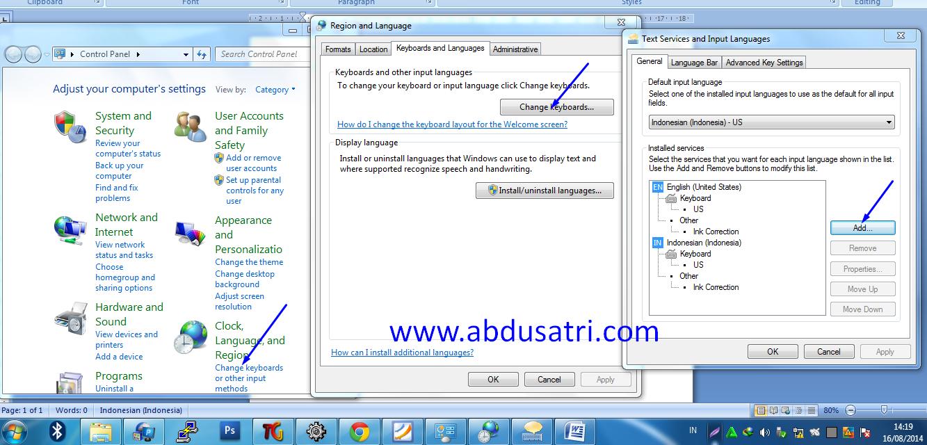 Cara menulis huruf arab di Ms Word