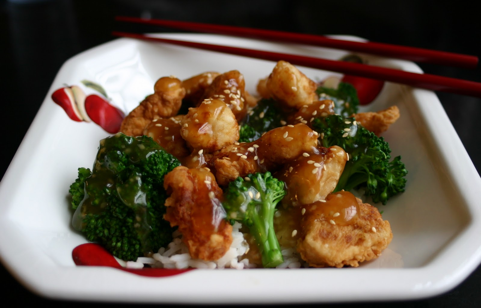 My Retro Kitchen: Sesame Chicken with Broccoli and Rice