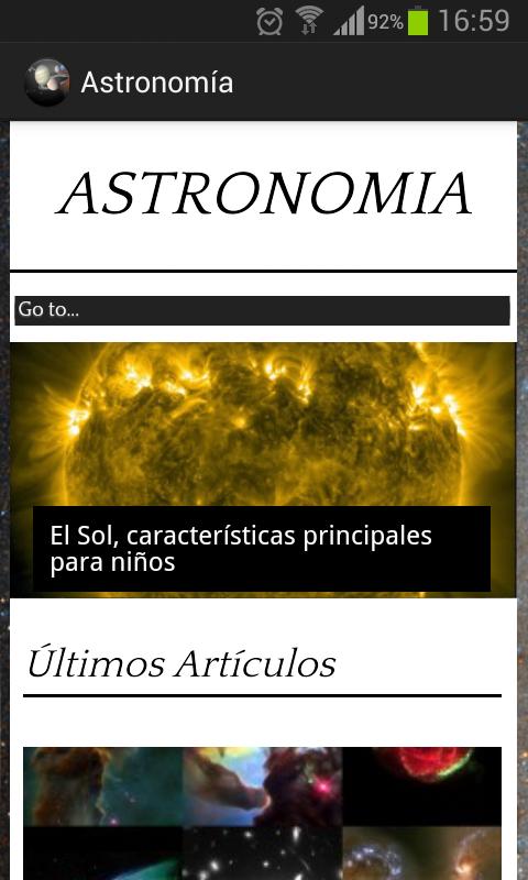 Aplicación Móvil Astronomía