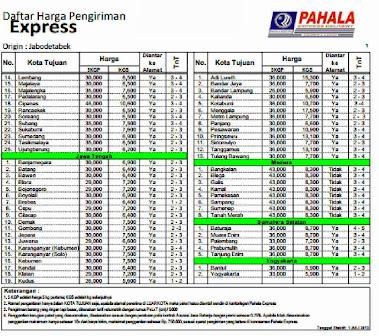 Tarif Pahala Express 2