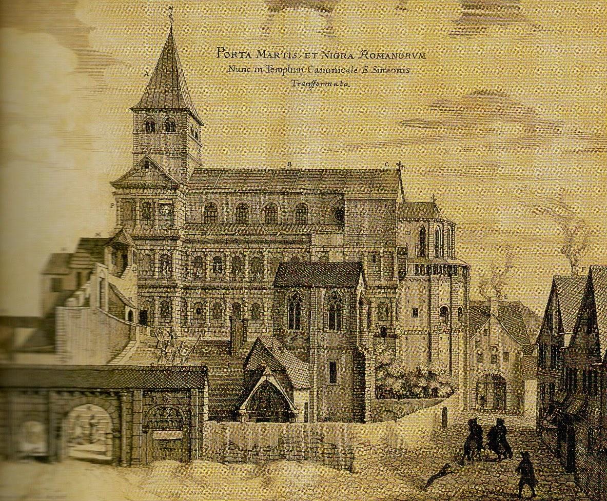 antiga Igreja São Simeão em Trier, Alemanha
