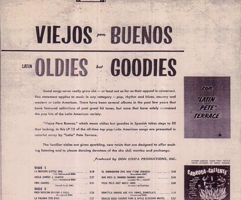 Latin Pete Terrace Viejos Pero Buenos Latin Oldies But Goodies