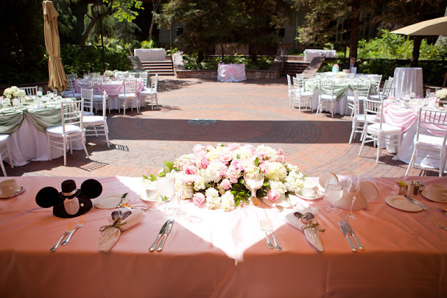 Disneyland wedding -  Brisa Courtyard - Sweetheart Table {Katie Keller Photography}