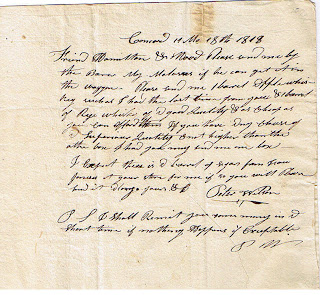 Letter to Alvah Bush, Albany New York, from her sister, M. M. Bush, Cooperstown, New York 1843