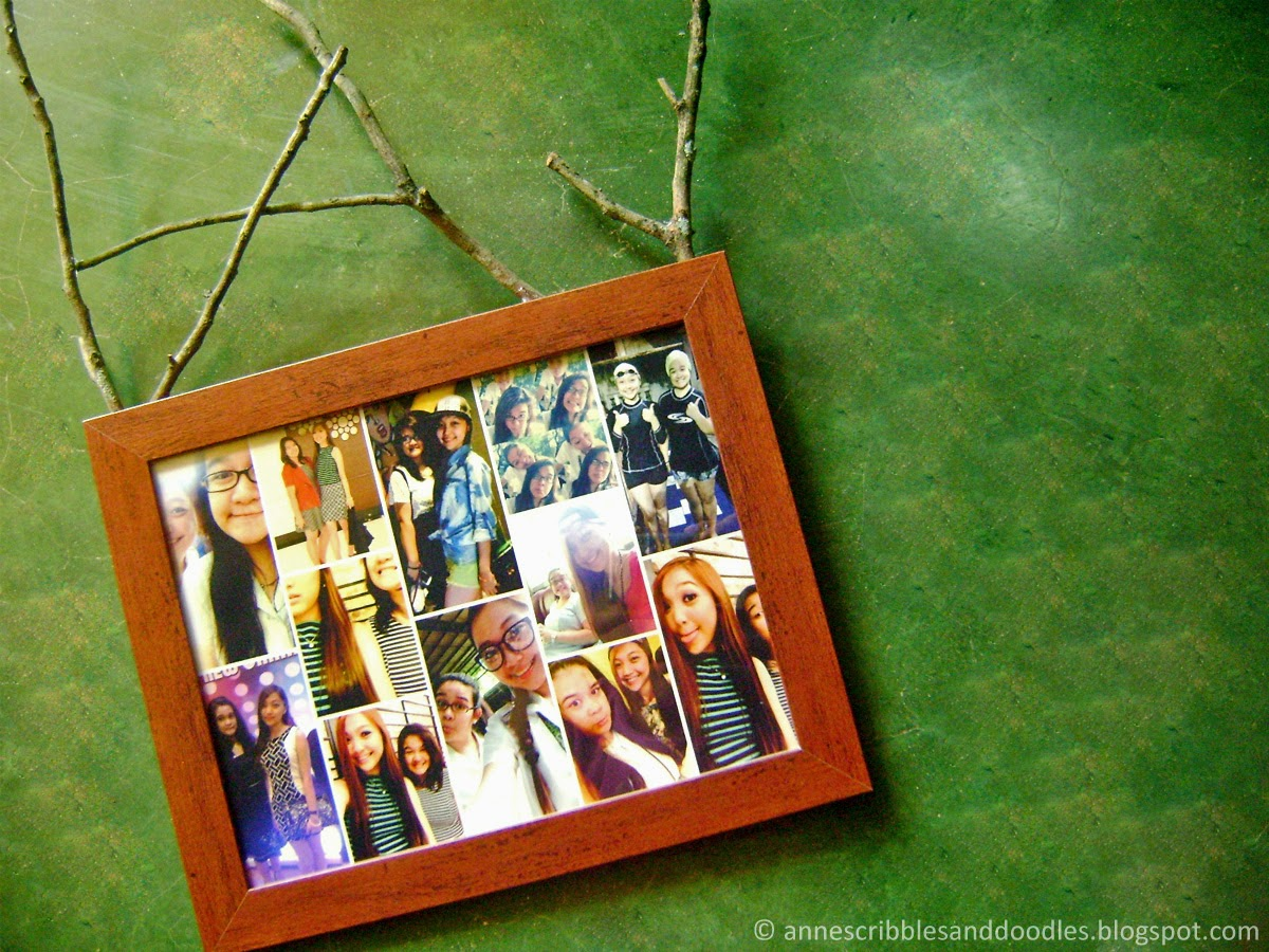 DIY Floral Garden Photo Frame