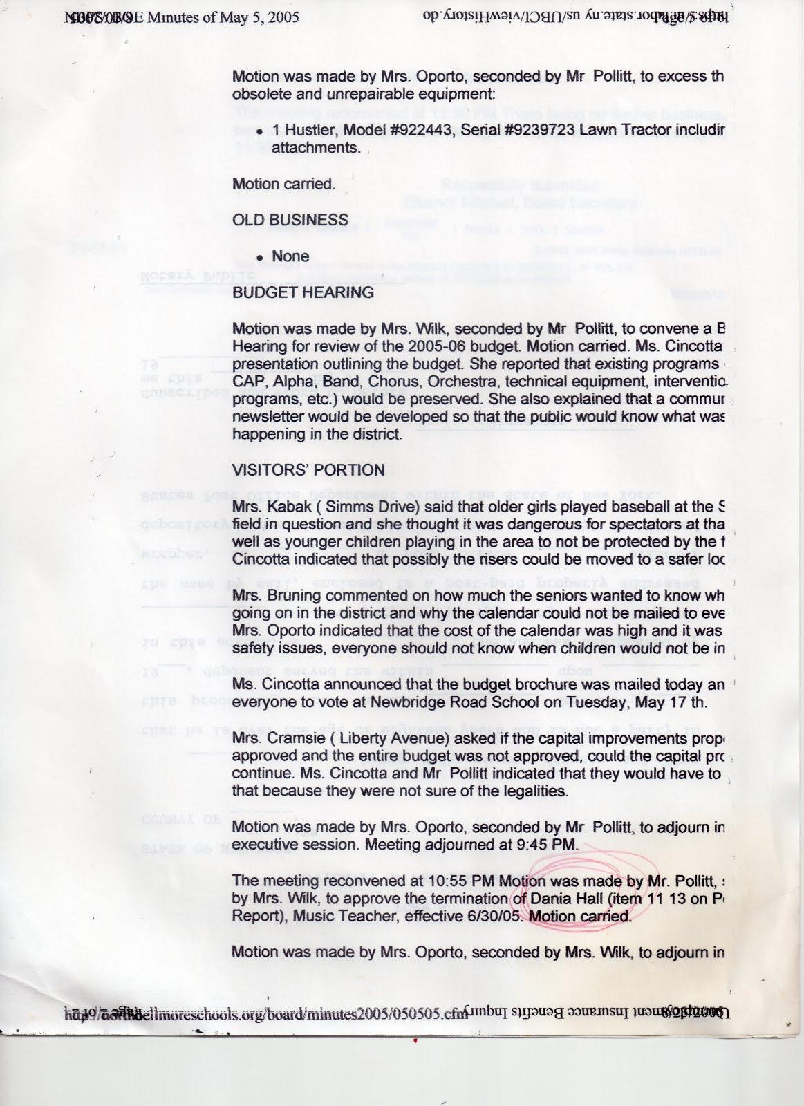 May 5, 2005 Board Mtg - page 5