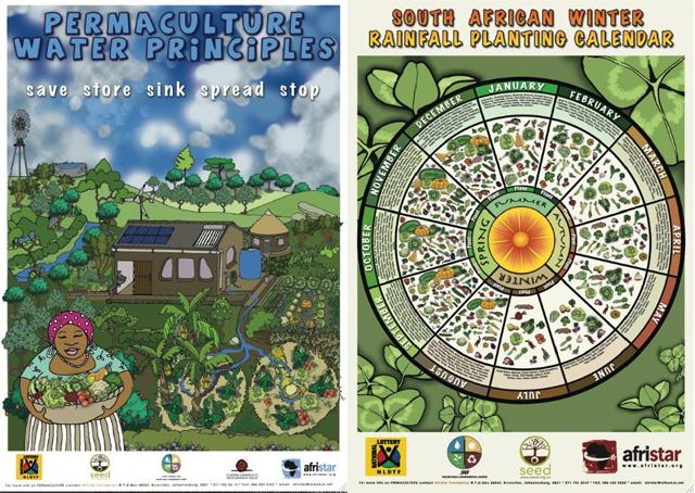 Afristar cria incríveis pôsters ilustrados sobre permacultura