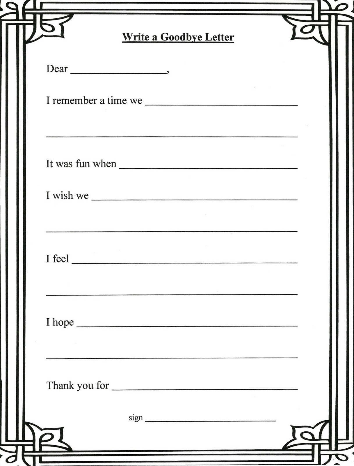 Grief and loss worksheets pdf