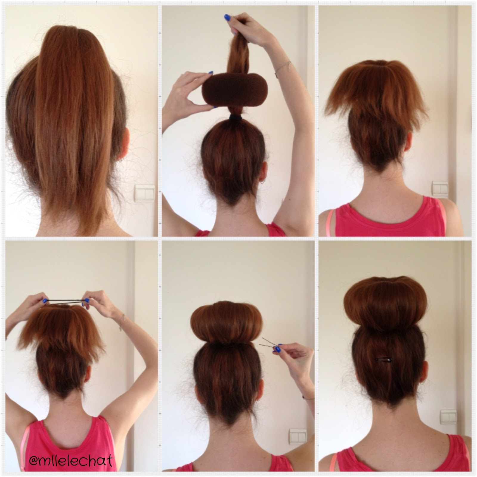 Chignon donut cheveux mi long fashion designs - Faire un chignon ...
