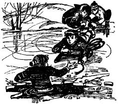 On the pond - Текст на английском про катание на коньках на пруду, заключительная часть. A Long Name - Поучительный текст про двух мальчиков.