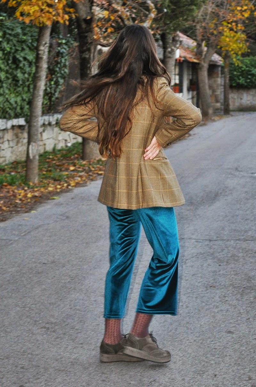 Pantalon de terciopelo verde by Ninasvintage