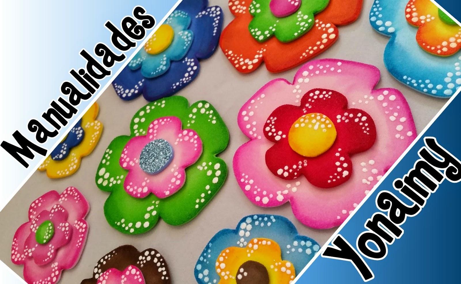 5 flores hechas con goma eva imagenes bonitas hechas