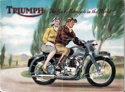 vintage honda motorcycle ads. vintage triumph motorcycle ads honda
