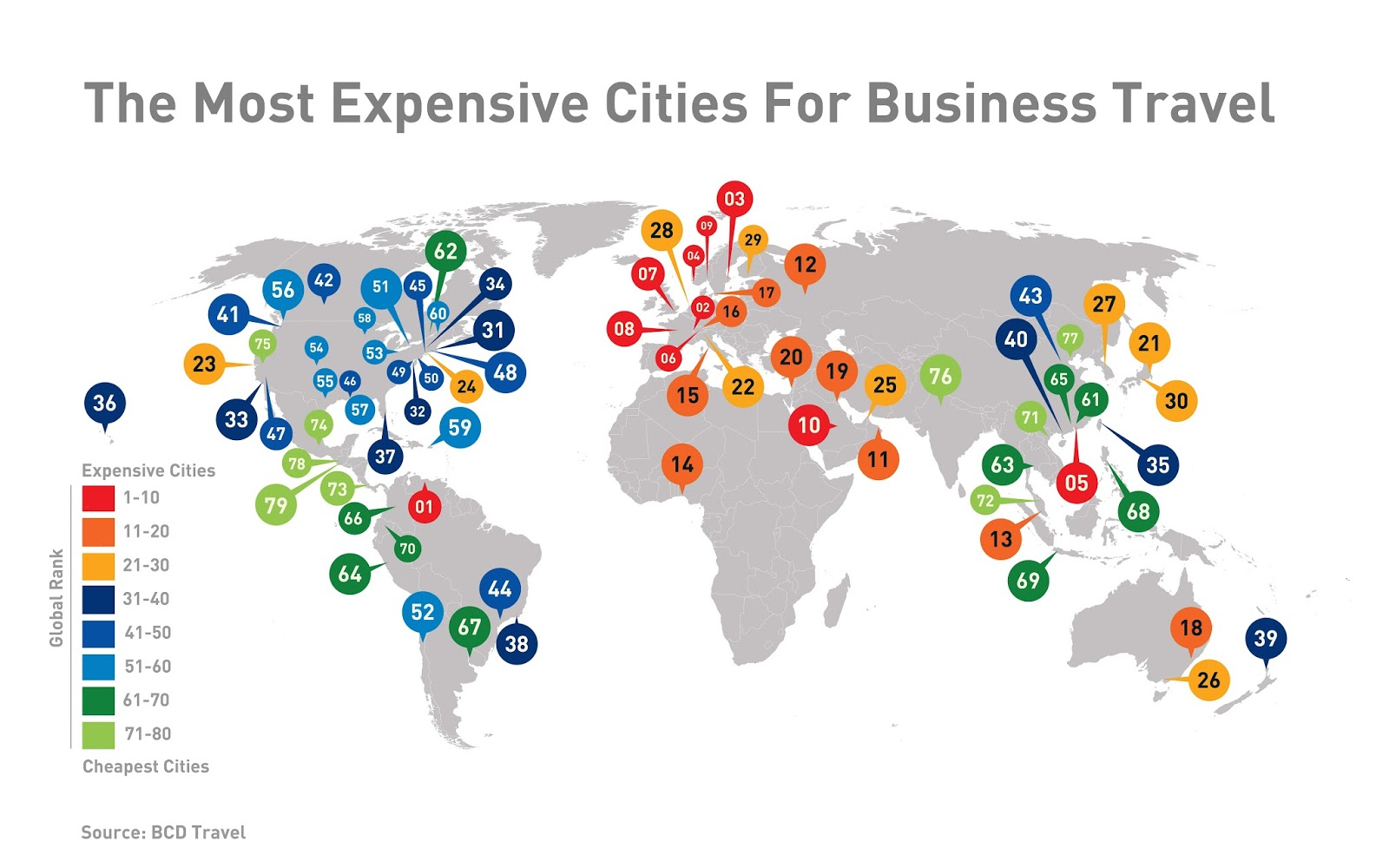 The most expensieve cities for business travel