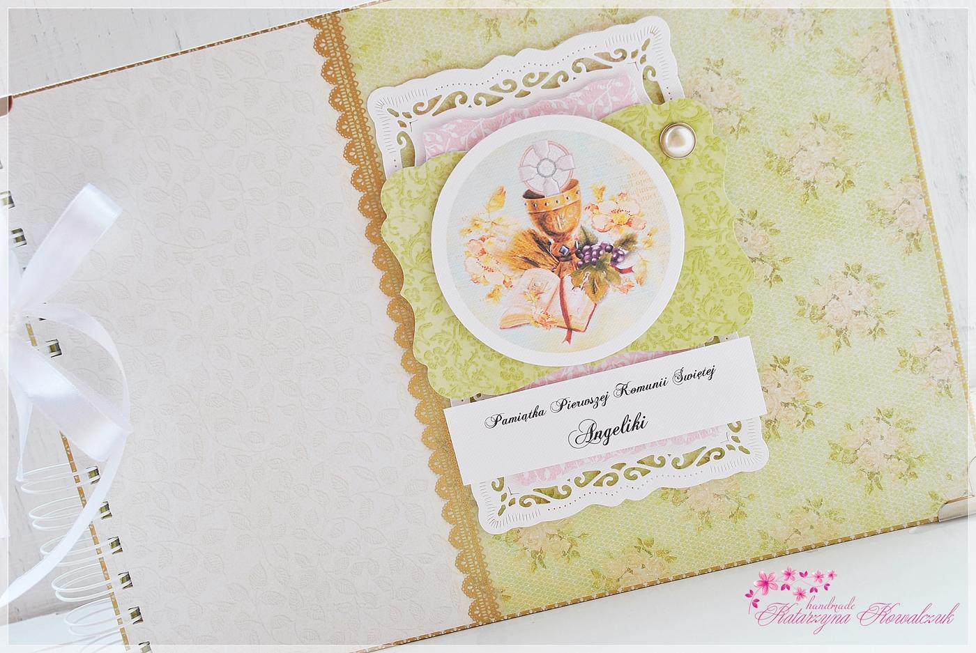 album, kartka, folder cd scrapbooking pierwsza komunia święta