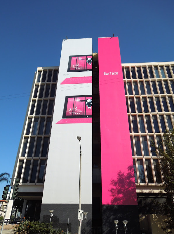 Giant pink Surface billboard
