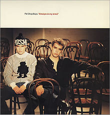 Pet Shop Boys Always On My Mind single cover