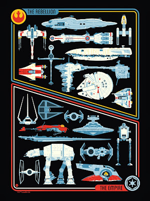 "Star Wars ""Transports"" Screen Print by Dave Perillo"