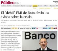 EL FONDO MONETARIO INTERNACIONAL FUE INCAPAZ DE PREVER LA CRISIS.