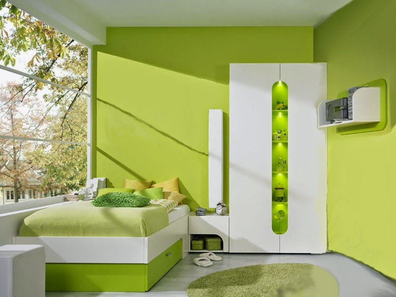 Habitaciones para adolescentes color verde dormitorios for Cuarto dormitorio
