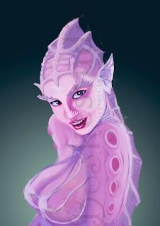 ilustración mujer con aspecto de sirena