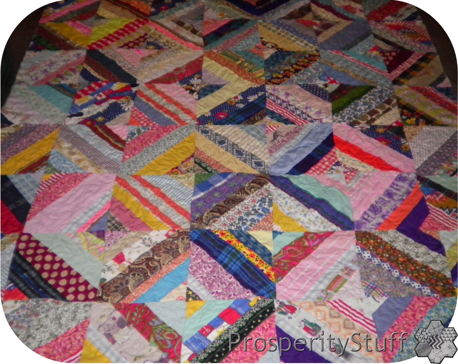 Vintage Quilt - Foundation Pieced Diamonds