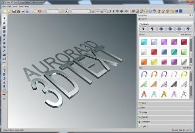 AURORA 3D TEXT LOGO MAKER 12.05.15 TERBARU