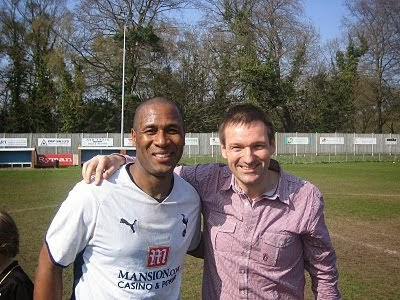 Me with Sir Les Ferdinand