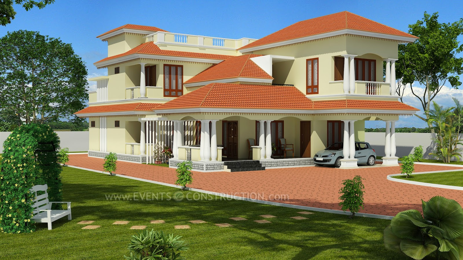 evens construction pvt ltd modern two storied house
