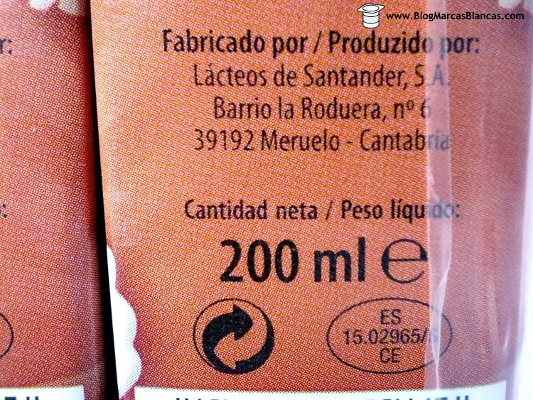 Lácteos de Santander fabrica el batido al cacao Milsani de Aldi.